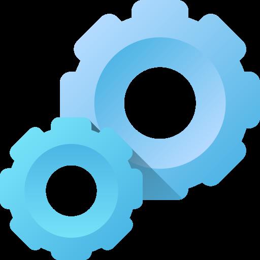 Settings icon blue