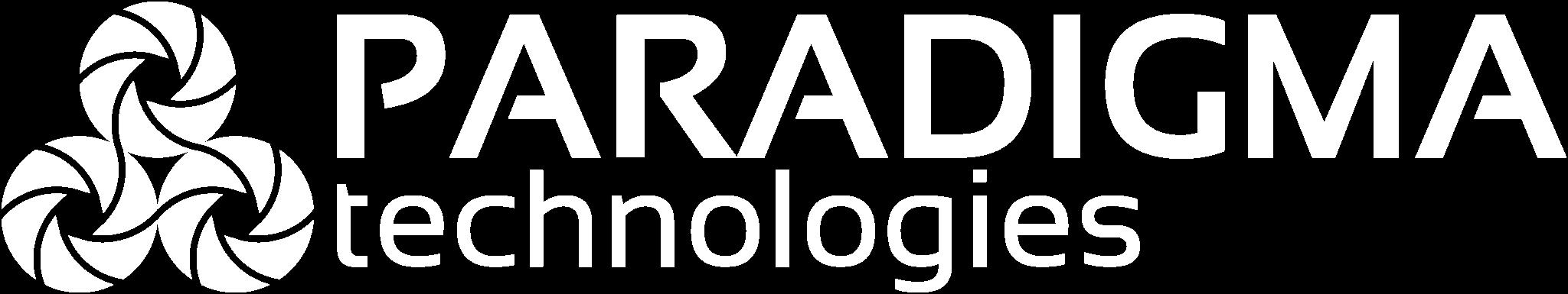Paradigma Technologies white logo